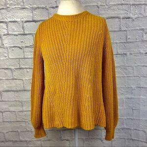 Loft Chunky Knit Mustard Sweater